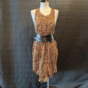 Reworked Volcom Wyld Leopard Halter Summer Dress